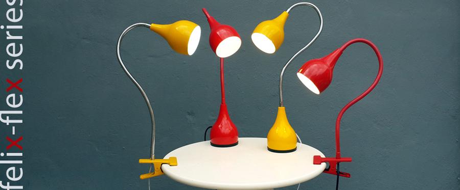Lampara escritorio pinza LED bajo consumo